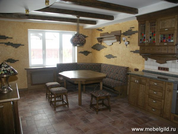 Кухонная мебель и барная стойка для коттеджа (Апрелевка)