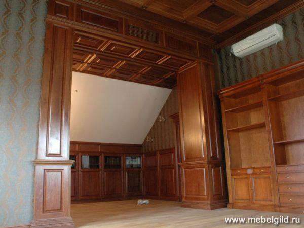 Домашний кинотеатр в Таганьково выполненный из массива дуба