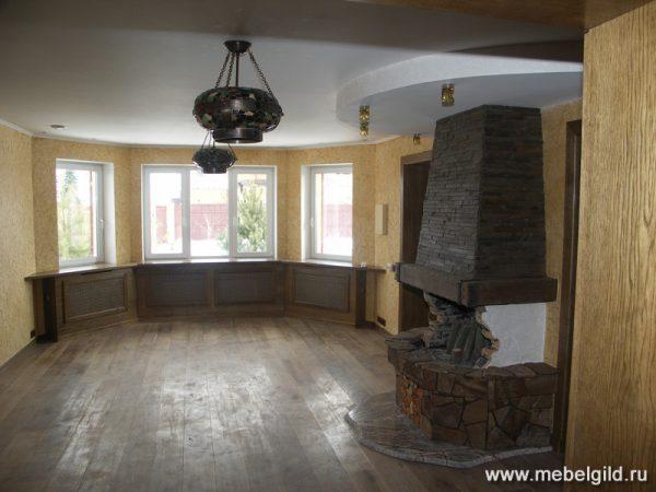 Стильная мебель для гостиной (коттедж в Апрелевке)