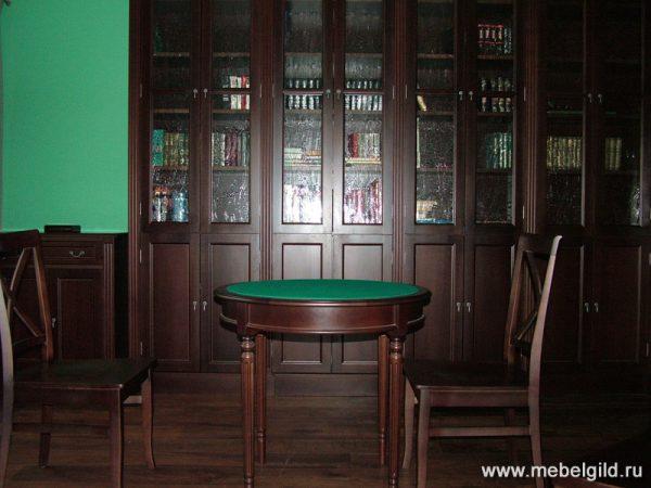 Стильная мебель для библиотеки (дом в Зеленом Подворье)