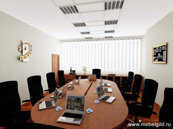 Выполненные в индивидуальном стиле конференц-столы от наших мастеров