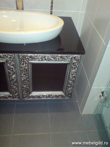 Оформление ванной: эксклюзивные тумбы под любую импортную сантехнику