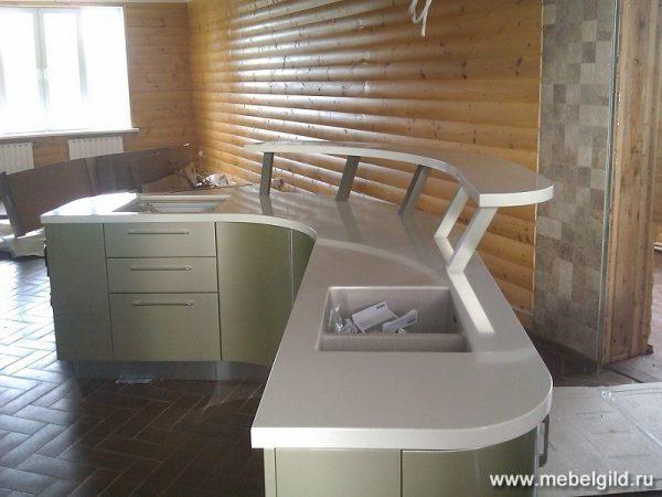 Кухонная столешница с баром